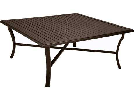 Tropitone Banchetto Aluminum 66 Square Dining Table with Umbrella Hole