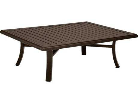 Tropitone Banchetto Aluminum 54 x 42 Rectangular Coffee Table