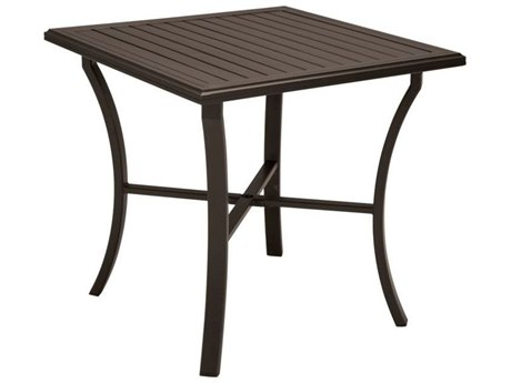 Tropitone Banchetto Aluminum 42 Square Bar Table