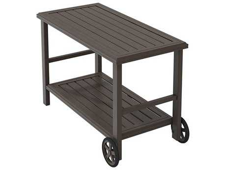 Tropitone Banchetto Aluminum 25 x 50.5 Rectangular Serving Cart