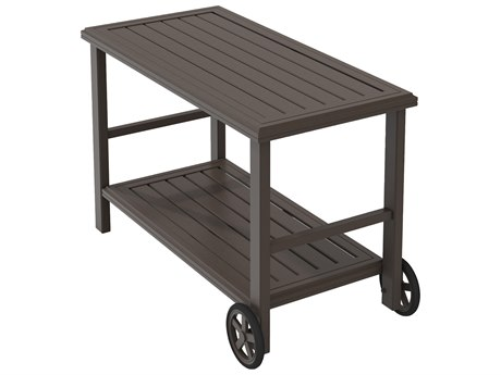 Tropitone Banchetto Aluminum 25 x 50.5 Rectangular Serving Cart TP401199TSW