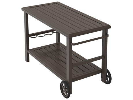 Tropitone Banchetto Aluminum 25 x 50.5 Rectangular Serving Cart TP401199W