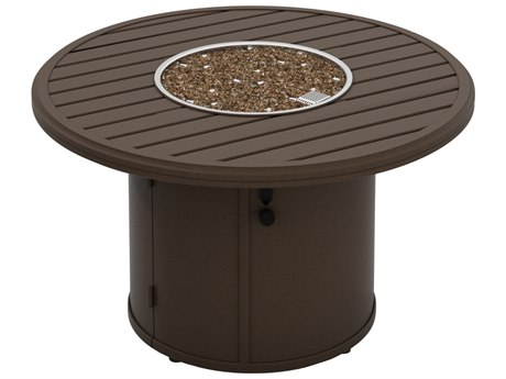 Tropitone Banchetto Aluminum 42''Wide Round Fire Pit Table