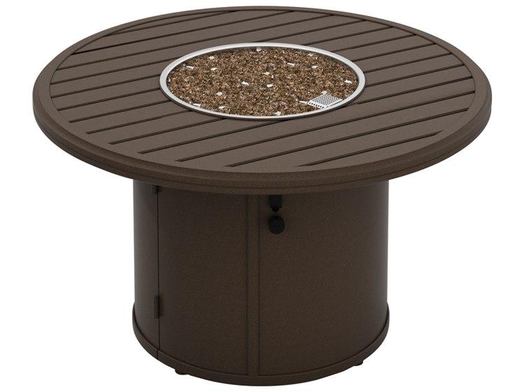 Tropitone Banchetto Aluminum 42 Round Fire Pit Table