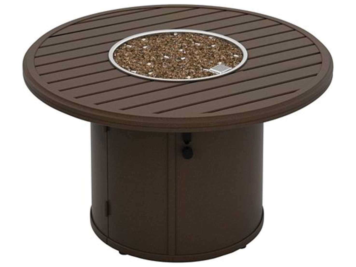 Tropitone Banchetto Aluminum 42 Round Fire Pit Table