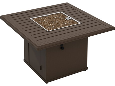 Tropitone Bachetto Aluminum 42''Wide Square Fire Pit Table