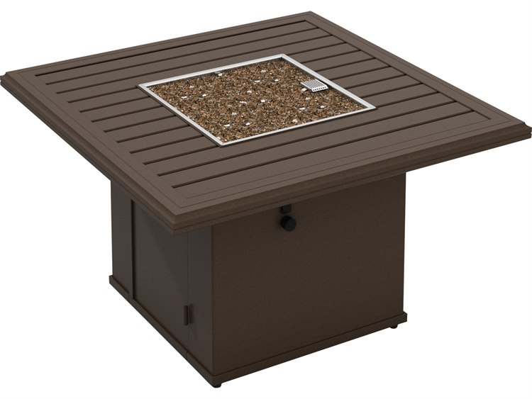 Tropitone Bachetto Aluminum 42 Square Fire Pit Table