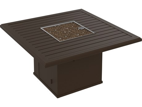 Tropitone Banchetto Aluminum 48 Square Fire Pit Table