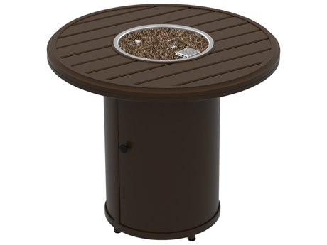 Tropitone Banchetto Fire Pits - Manual Ignition 30 Round Fire Pit (15 1/2 round base)