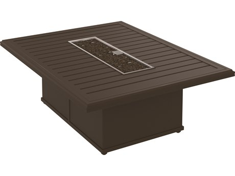 Tropitone Banchetto Fire Pits - Manual Ignition 54 x 42 Rectangular Fire Pit (36 x 24 rectangular base)