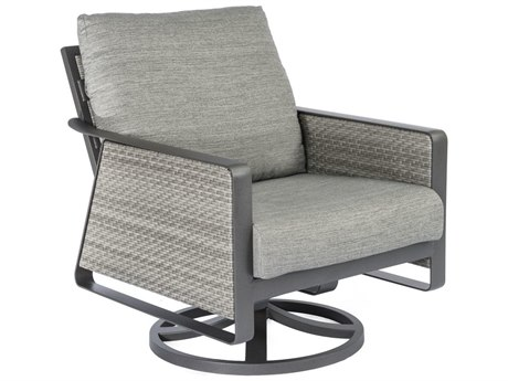 Tropitone Samba Cushion Woven Swivel Rocker Lounge Chair PatioLiving