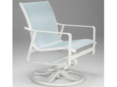 Tropitone Samba Sling Aluminum Swivel Rocker Lounge Chair PatioLiving