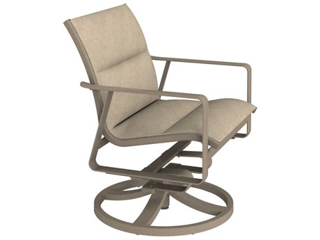 Tropitone Samba Padded Sling Aluminum Swivel Rocker Lounge Chair