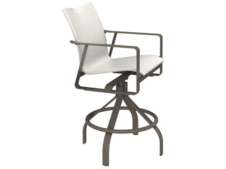 Tropitone Samba Woven Aluminum Swivel Bar Stool 28''