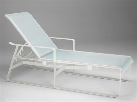 Tropitone Samba Sling Aluminum Chaise Lounge with Arms