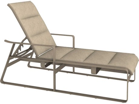 Tropitone Samba Padded Sling Aluminum Chaise Lounge with Arms
