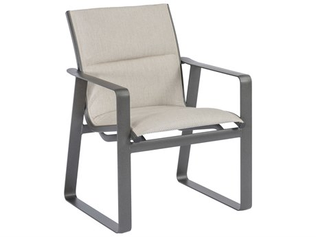Tropitone Samba Padded Sling Aluminum Dining Arm Chair