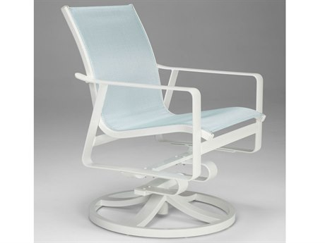 Tropitone Samba Sling Aluminum Swivel Rocker Dining Chair