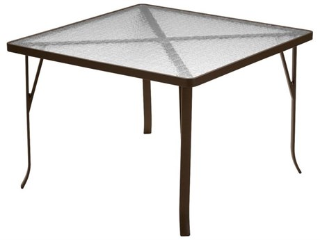 Tropitone Aluminum 42 Square Dining Table with Umbrella Hole