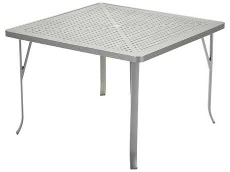 Tropitone Boulevard Aluminum 42 Square Dining Table with Umbrella Hole TP4243SBU