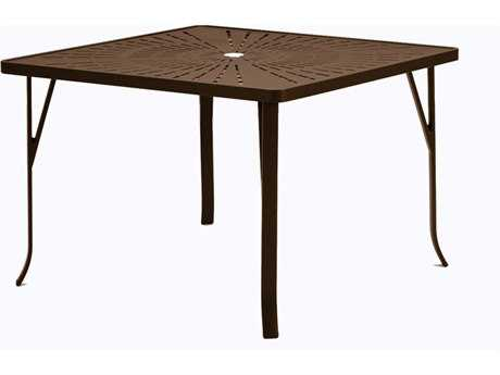 Tropitone La Stratta Aluminum 42 Square Dining Table with Umbrella Hole