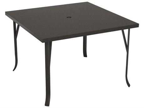Tropitone Ion Aluminum 42 Square Dining Umbrella Table