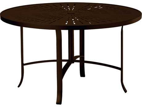 Tropitone La Stratta Aluminum 48 Round Dining Table with Umbrella Hole