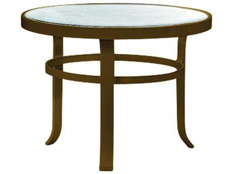 Tropitone Cast Aluminum 24 Round Obscure End Table