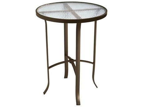 30'' Acrylic Top Round Bar Table