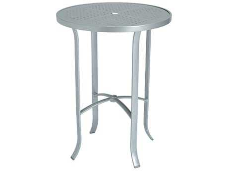 Tropitone Boulevard Aluminum 30 Round Metal Bar Table