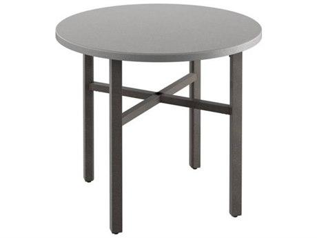Tropitone Matrix Aluminum 42''Wide Round KD Bar Table with Umbrella Hole