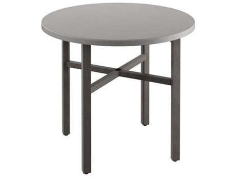 Tropitone Matrix Aluminum 48''Wide Round KD Counter Table with Umbrella Hole