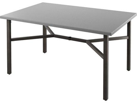 Tropitone Matrix Aluminum 70''W x 46''D Rectangular KD Counter Table