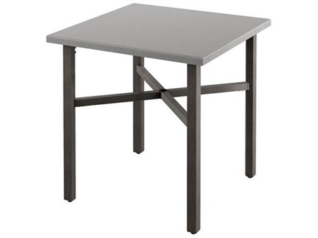 Tropitone Matrix Aluminum 30''Wide Square KD Bar Table with Umbrella Hole