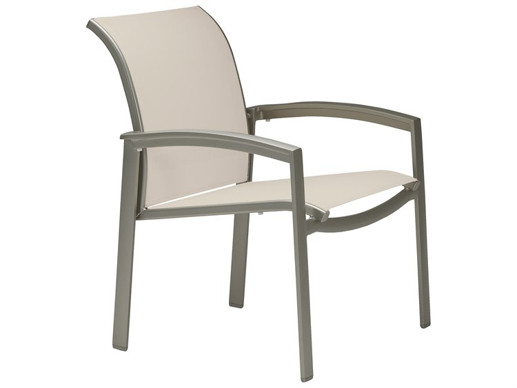 Tropitone Elance Relaxed Sling Aluminum Dining Arm Chair PatioLiving