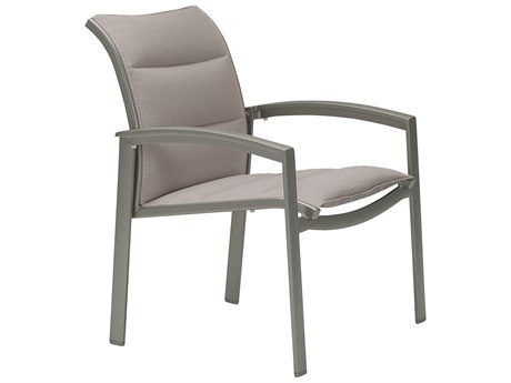 Tropitone Elance Padded Sling Aluminum Dining Arm Chair PatioLiving