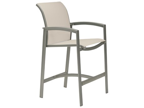 Tropitone Elance Relaxed Sling Aluminum Bar Stool PatioLiving