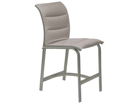 Tropitone Elance Padded Sling Aluminum Armless Stationary Counter Height Stool