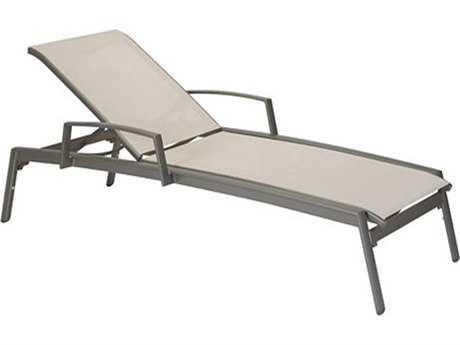 Tropitone Elance Relaxed Sling Aluminum Chaise Lounge with Arms