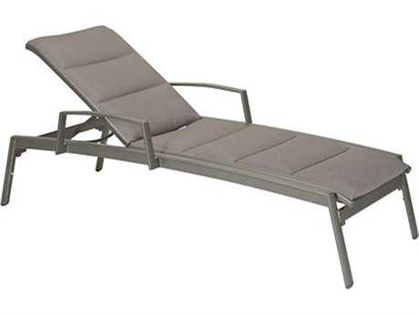 Tropitone Elance Padded Sling Aluminum Chaise Lounge with Arms