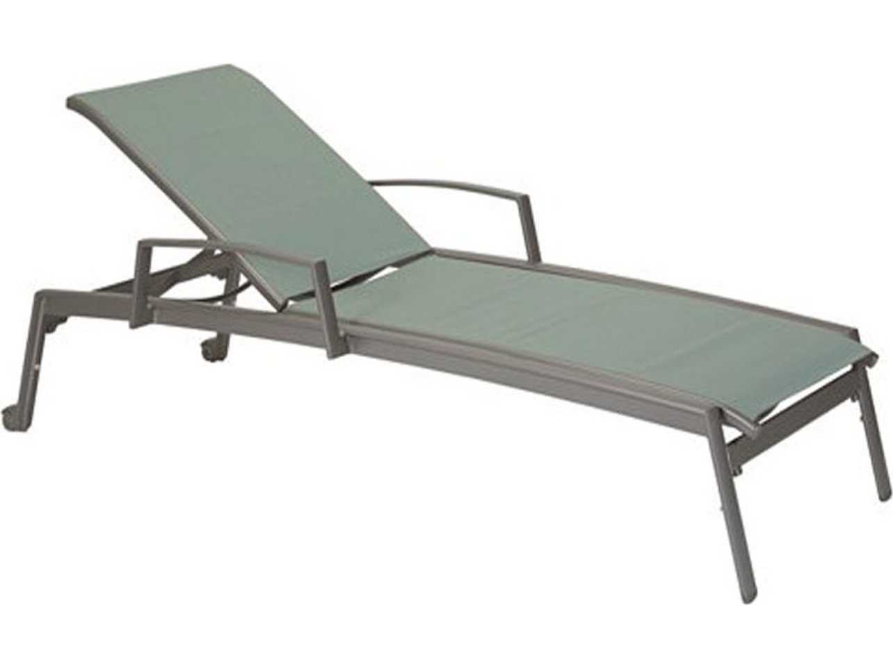 Tropitone elance relaxed sling aluminum chaise lounge with for Chaise lounge aluminum