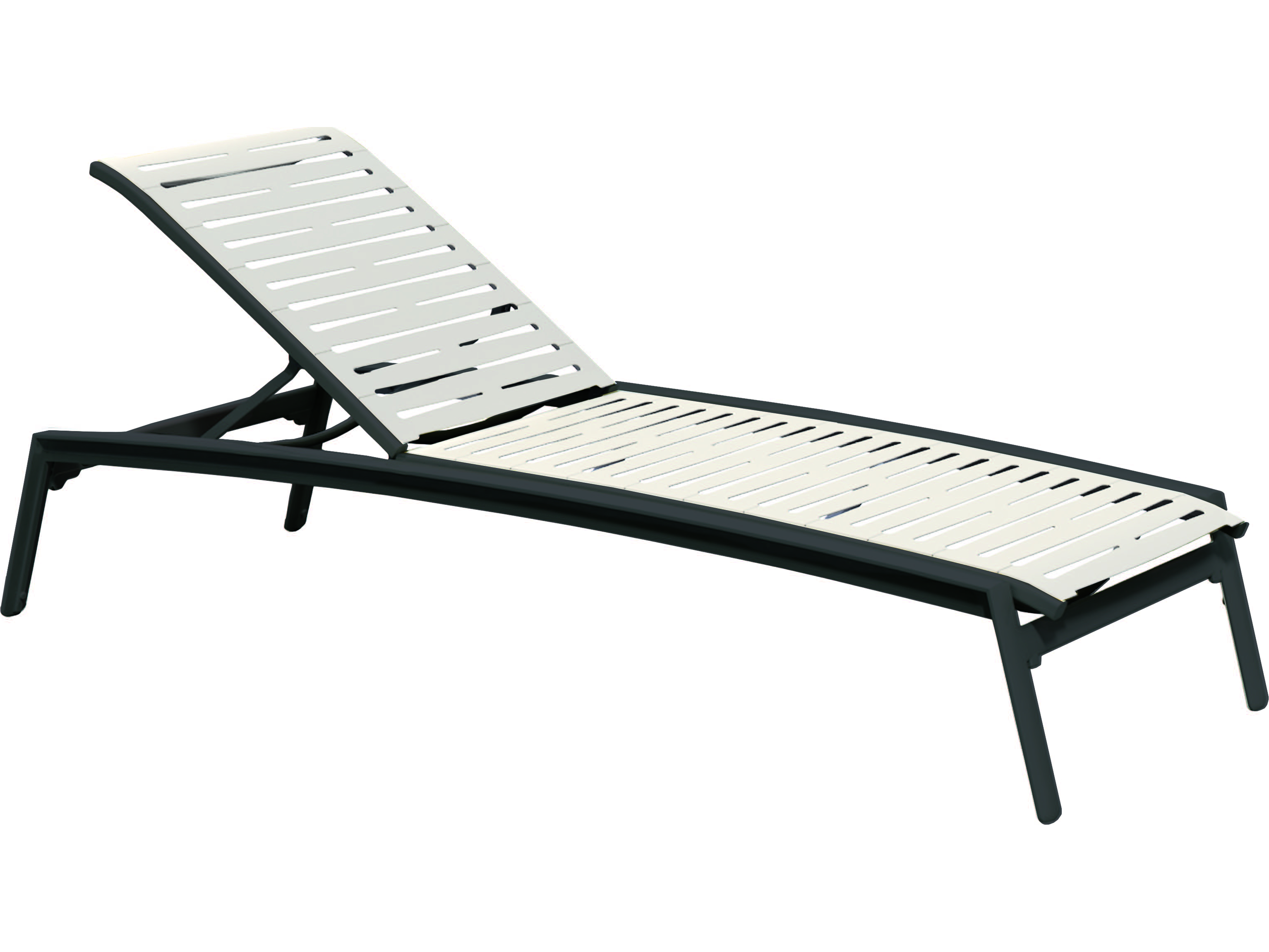 Tropitone elance ez span aluminum ribbon stackable chaise for Chaise lounge aluminum