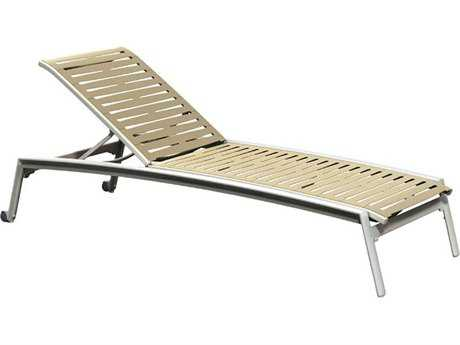 Tropitone Elance Ez Span Aluminum Ribbon Stackable Chaise Lounge with Wheels