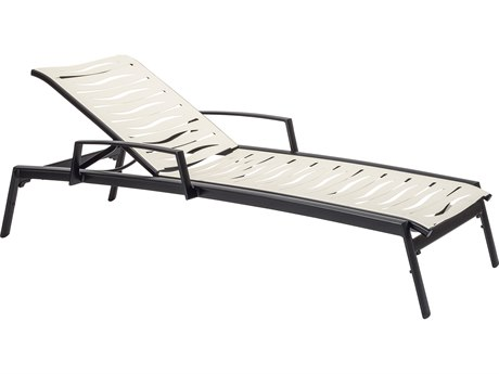 Tropitone Elance Ez Span Aluminum Wave Chaise Lounge with Arms