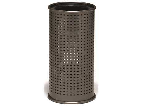 Tropitone District Round Steel Ash Urn Square Pattern