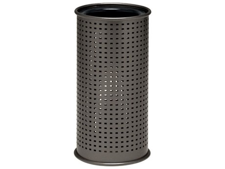 Tropitone District Aluminum Round Ash Urn, Square Pattern