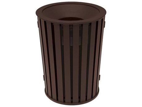 Tropitone District Round Steel Waste Receptacle