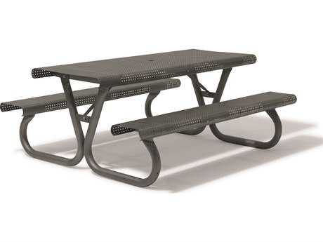Tropitone District 6' Rectangular Steel Picnic Table
