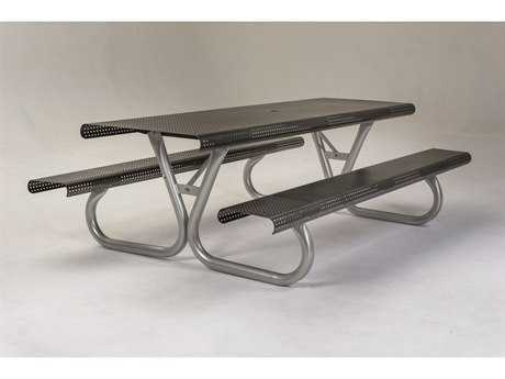 Tropitone District 8' Rectangular Steel Picnic Table