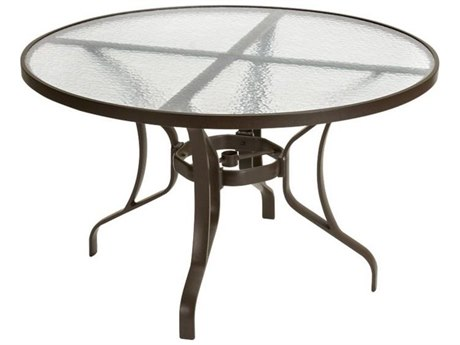 Tropitone Cast Aluminum 48 Round Obscure Top Dining Table TP500048G